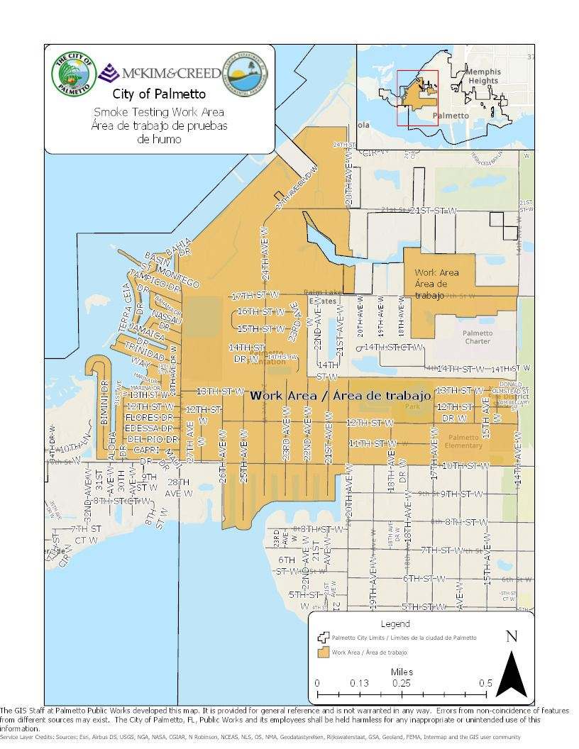 Sewer System 1 and 17 Smoke Testing Map
